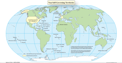 Map of the non-self-governing territories
