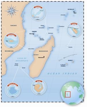 Map of Iles Eparses - Aurélie Boissière