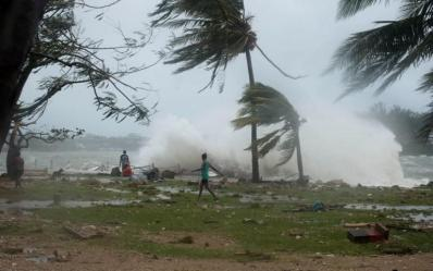 Tuvalu, facing Cyclone Pam