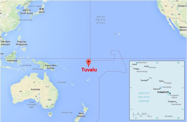 Tuvalu Countdown To Drowning Florafranca - Tuvalu map